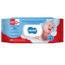 Bambik Baby Детские влажные салфетки с овсяным молочком 120шт