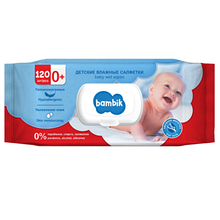 Bambik Baby Дитячі вологі серветки з вівсяним молочком 120шт