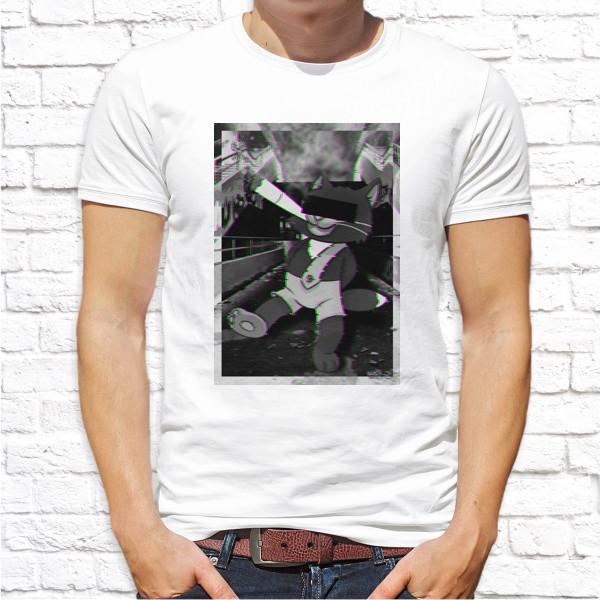 Чоловіча футболка з принтом, Swag Кіт з цигаркою Push IT