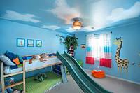 Натяжной потолок с печатью в детской, фото 1