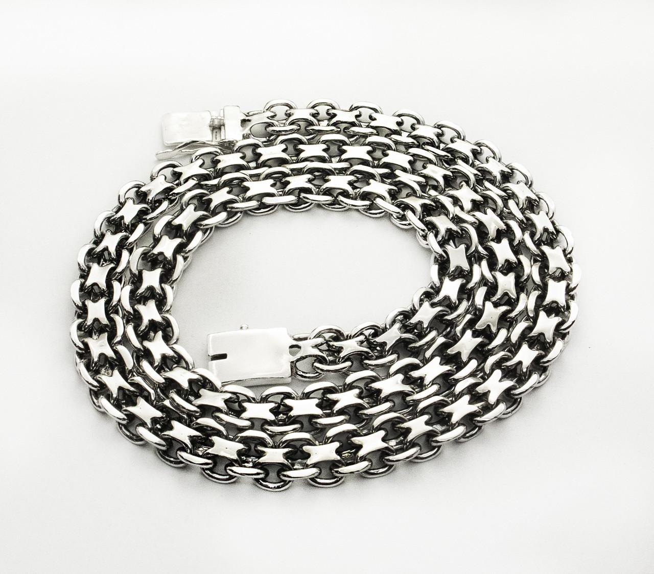 Цепь серебряная плетение Двойной Якорь или Кобра от 60 грамм