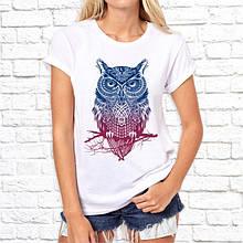 Женская футболка с принтом Филин Push IT