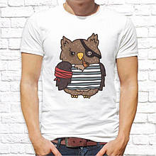 Мужская футболка с принтом Сова ПИРАТ Push IT