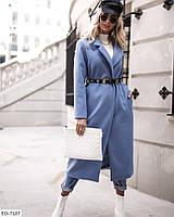 Женское зимнее кашемировое пальто на запах, фото 1