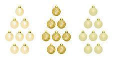 Набор пластиковых шаров, 24 шт., 3,5 см., цвет золотистый, фото 2