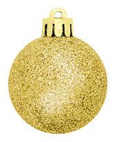 Набор пластиковых шаров, 24 шт., 3,5 см., цвет золотистый, фото 3