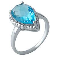 Серебряное кольцо DreamJewelry с аквамарином nano (1994627) 18.5 размер