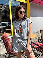 Женский летний костюм с шортами и безрукавкой с Микки tez6810894, фото 1