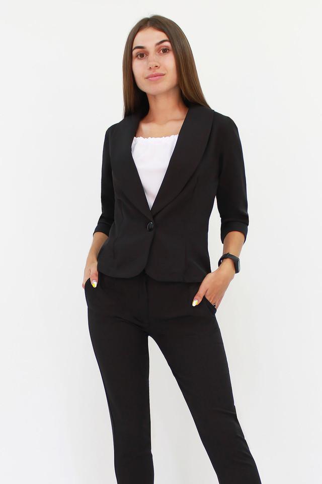 Вишуканий жіночий костюм Melage, чорний