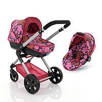 Универсальная коляска для кукол 2 в 1 HAUCK ICoo Manhattan D-89650 с люлькой и прогулочным блоком Розовая