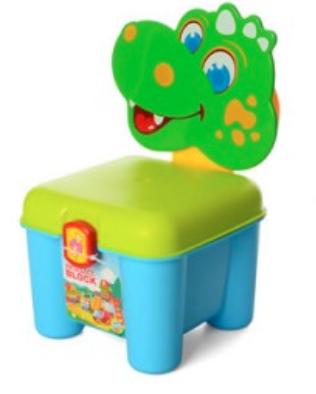 Конструктор стул-чемодан 46 дет  Крокодил зелен 22-32-26 см 3166A