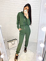 Женский комбинезон с молнией спереди, капюшоном и штанами на манжетах tez27101092, фото 1