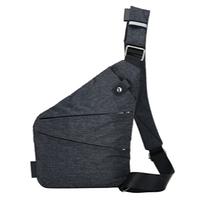 Рюкзак-сумка однолямочный ArtX Cross Body черно-серый