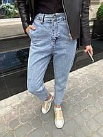 Женские светлые голубые джинсы с резинкой на талии tez6812485, фото 1