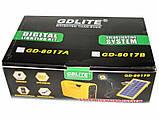 Мобільний акумулятор GDLite GD-8017 - сонячна зарядка, фото 5