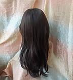 Парик длинный волнистый без челки шоколадный 1625G -6, фото 3