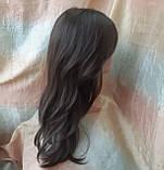 Парик длинный волнистый без челки шоколадный 1625G -6, фото 5