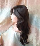 Парик длинный волнистый без челки шоколадный 1625G -6, фото 4