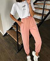 Женские спортивные штаны джоггеры на резинке и со шнурком (р. единый 42-44) tez7712531, фото 1