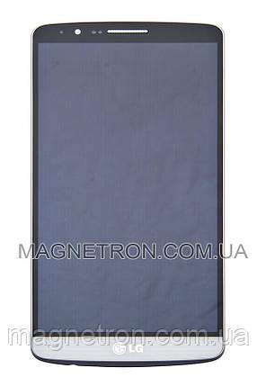 Дисплей с тачскрином и передним корпусом для телефона LG D855 G3 ACQ87190301, фото 2