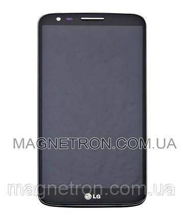 Дисплей с тачскрином и передним корпусом для телефона LG D802 G2 ACQ86917701, фото 2