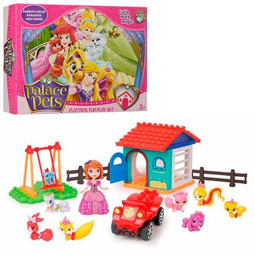 Детский конструктор для маленьких девочек Ферма с животными арт.1080