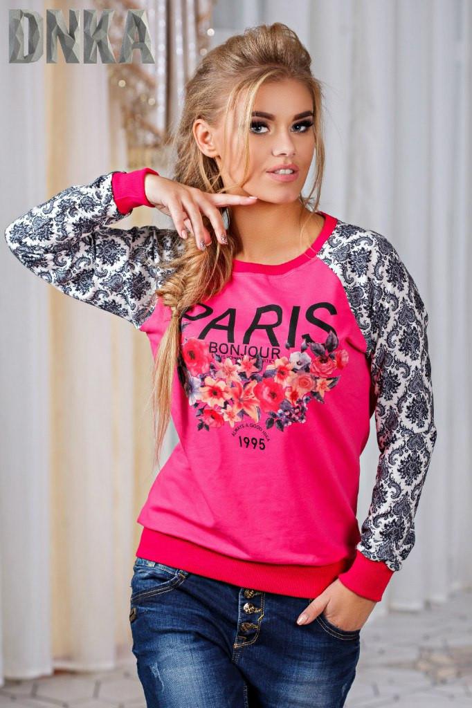 Женский свитшот Paris цветы
