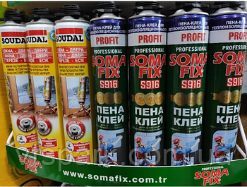 Оптом Монтажная пена SomaFix SOUDAL Tytan Lacrysil, монтажна піна Сомафікс Тітан Лакрисіл