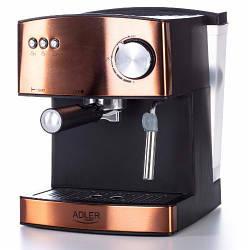 Кофеварка компрессионная Adler AD 4404 cooper 15 Bar Польша