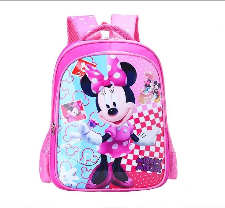 Стильный детский школьный рюкзак для девочек Mickey Mouse начальных 1 2 3 4 классов