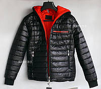 Куртка мужская зимняя PRADA Прада Курточка с капюшоном пуховик
