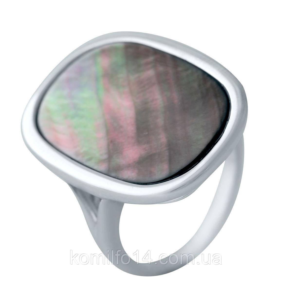 Серебряное кольцо с натуральным перламутром
