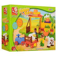 Детский конструктор для маленьких детей Sluban Ферма с животными арт.6018