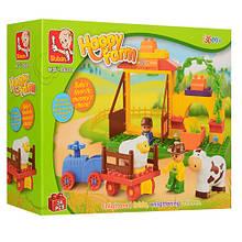 Дитячий конструктор для маленьких дітей Sluban Ферма з тваринами арт.6018