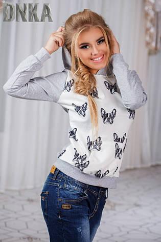 Женский свитшот собачки с капюшоном , фото 2