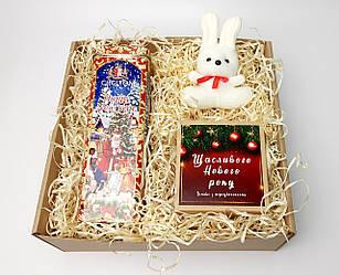 """Подарок на новый год """"Моя Зая: новогоднее печенье с предсказаниями, набор чая, зайчонок-талисман"""