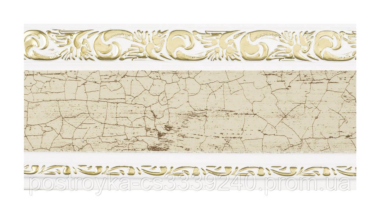 Лента декоративная на карниз, бленда Ажур 3 Краке 70 мм на усиленный потолочный карниз КСМ