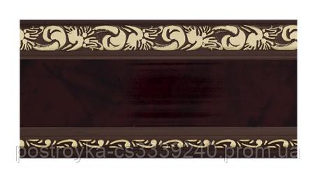Лента декоративная на карниз, бленда Ажур 3 Махагон 70 мм на усиленный потолочный карниз КСМ