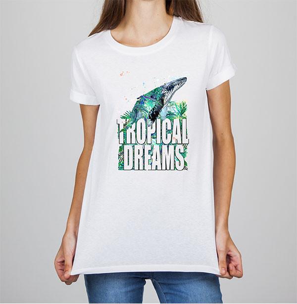 Жіноча футболка з принтом Кіт Tropikal dreams Push IT