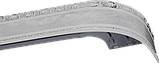 Лента декоративная на карниз, бленда Ажур 3 Мрамор хром 70 мм на усиленный потолочный карниз КСМ, фото 2