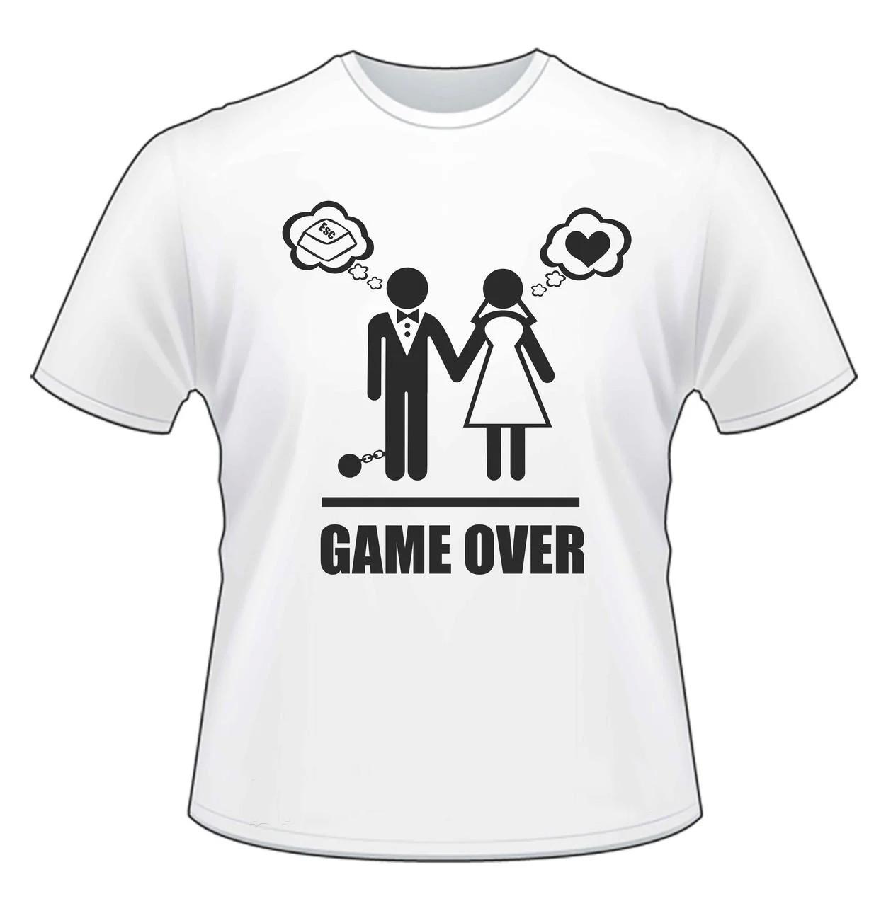"Чоловіча футболка з принтом ""Game over"" Push IT"