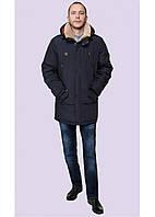 Теплая зимняя мужская куртка прямого силуэта с 50 по 60 размер