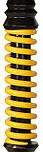 Кальян Mamay Customs Coilovers Mini Черный лак пружина желтая, фото 2