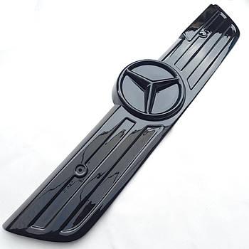 """Зимова накладка на Mercedes Sprinter CDI 2000-2006 Решітка """"FLY"""" Глянець"""