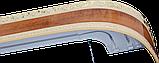 Лента декоративная на карниз, бленда Ажур 3 Орех бежевый 70 мм на усиленный потолочный карниз КСМ, фото 2