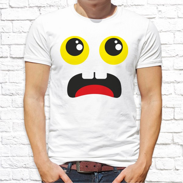 Мужская футболка с принтом Смайл Push IT
