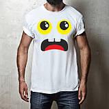 Мужская футболка с принтом Смайл Push IT, фото 2