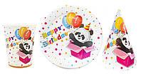 "Набор детской посуды ""Панда Happy Birthday"""