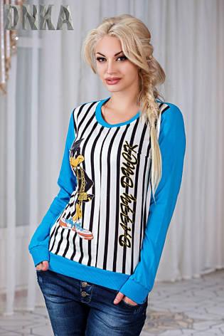 Женский свитшот Даффи Дак в полоску , фото 2