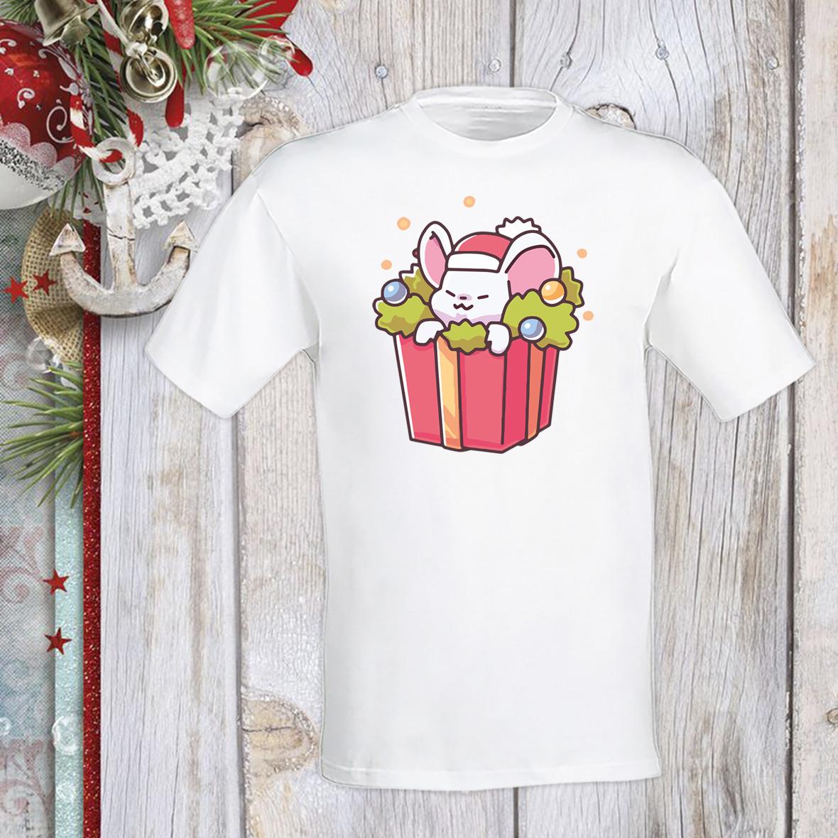 Футболка с новогодним принтом Мышонок и подарок Push IT Белый